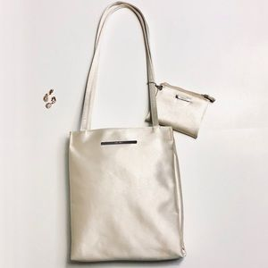 Champagne Gold Nina West Handbag with Wallet